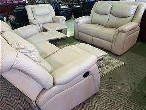 Genuine Leather Uppers lounge suite for sale R 22995