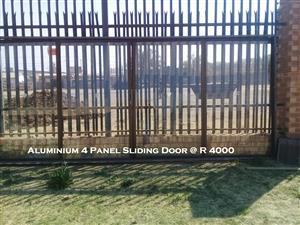 Used 4 Panel Aluminium Sliding Door