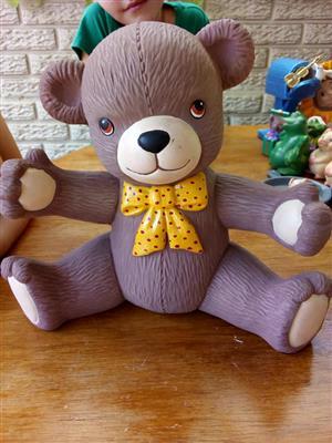 Yellow bow tie ceramic teddy