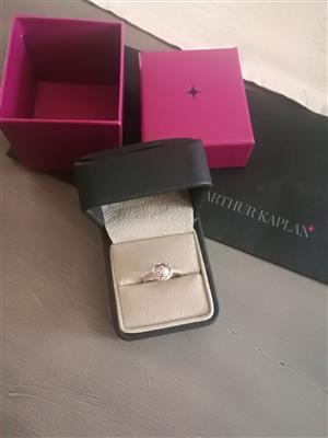 9ct White Gold Engagement Diamond Ring