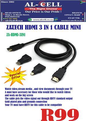 HDMI MINI,MICRO,HDMI 3 IN 1 CABLE
