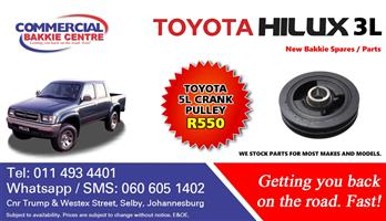 toyota hilux 5l crank pulley