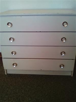 2 x chest of drawers,double bed