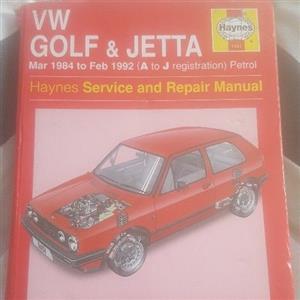 VW GOLF & JETTA MANUAL BOOK FOR CHEAP QUICK SALE