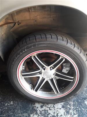 "Mags 20"" and Tyres  (275/45R106h)  M+S Wanli"