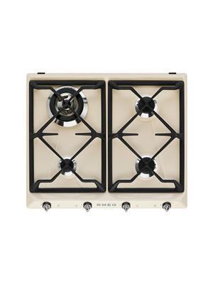 SMEG- 60 x 45cm Victorian cream Compact Combi-Microwave Oven and SMEG-Victorian Cream Gas hob
