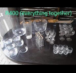 Various glasses and jugs