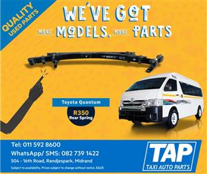 Toyota Quantum Leaf / Rear Spring - Taxi Auto Parts quality used spares - TAP