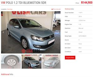 2014 VW Polo 1.2TDI BlueMotion