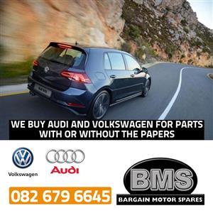 We buy Audi and Volkswagen Cars