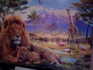 Lion,giraffe and flamingo puzzle