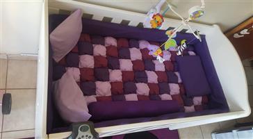 Purple cot mattress for sale