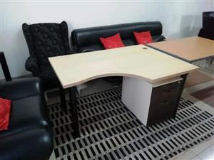 Curved office desk for sale