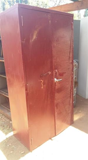 Red steel cupboard for sale
