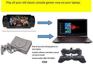 Software to play your playstation games on laptop or desktop.