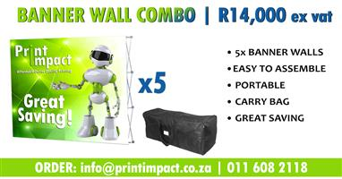BRANDED Banner Walls on SPECIAL