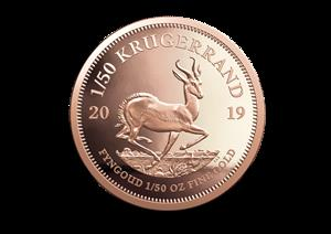 Krugerrands 1/50th  Gold 22ct
