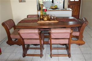Dining room table and side board for sale