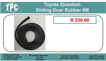 Toyota Quantum Sliding Door Rubber 6m For Sale.