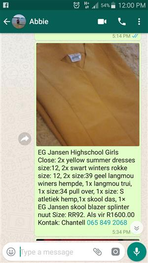 EG JANSEN HIGHSCHOOL CLOTHES