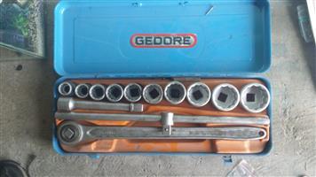 Gedore 22 to 50 socket set