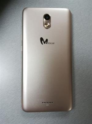 Mobicel V1 5.45 inch gold phone with box and all accessories
