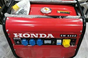 Brand New Honda Em4500 4.5Kw4.5Kva Specialist Framed Petrol Generator
