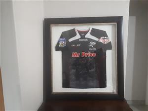 Sharks Signed Framed Rugby Jersey