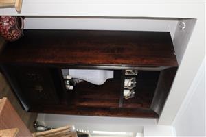 Large Mahogany Display / TV unit