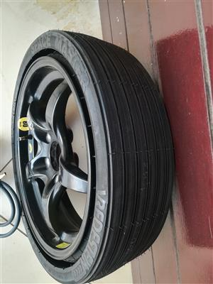 Brand New SLK 200 Collapsible Original Space Saver Spare Wheel with New Pump