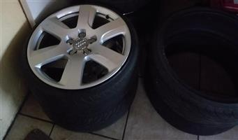 AUDI WHEELS WITH TYRES