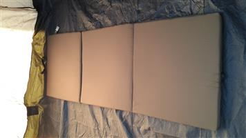 3 Divisional Foam Canvas Covered Mattresses For Sale