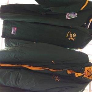bok rugby jersey xxl springbok windbreaker xl