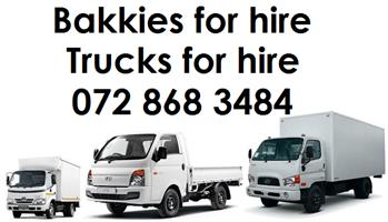 Bakkie for hire Truck for hire