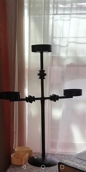 Wrought Iron solid Candle Holder