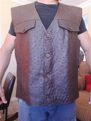 Ostrich leather jacket