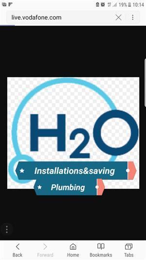 H2o installation and savings plumbing