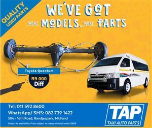 Toyota Quantum Diff - Taxi Auto Parts quality used spares - TAP