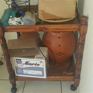 Wooden tea trolley for sale