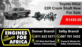 Toyota Hilux 22R Crankshaft New For Sale
