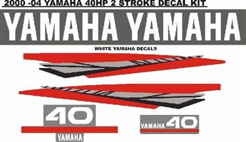 Yamaha 40 two stroke outboard motor cowl stickers decals vinyl cut graphics for sale  Kempton Park