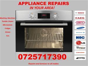 Stove Repairs, Washing Machine Repairs, Fridge Repairs, Tumble Dryer Repairs, Microwave Repairs, TVs