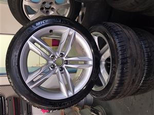 """Audi S5 19"""" Rims with Michelin 255/40 R19 Tyres"""