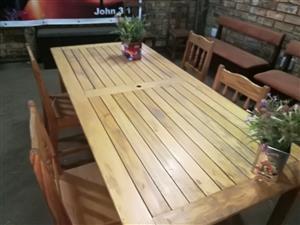 large Pine wood table