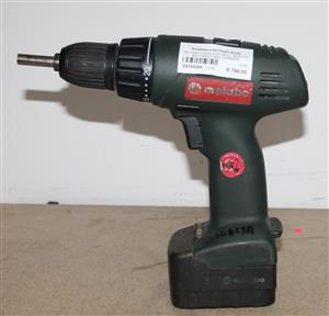 Metabo cordless drill with 2 batteries and charger S032428a #Rosettenvillepawnshop