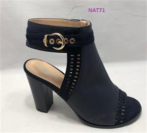 Dark grey and black ladies medium heels