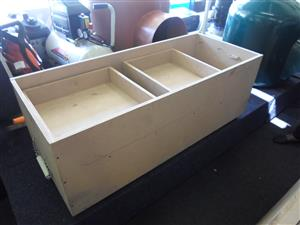 Wooden Toolbox / Storage Box and Table