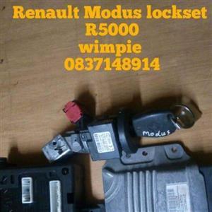 Renault modus lock set