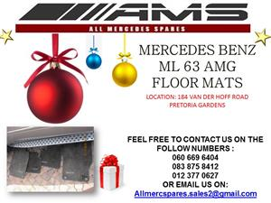 CHRISTMAS SPECIALS !!! MERCEDES BENZ ML 63 AMG FLOOR MATS FOR SALE