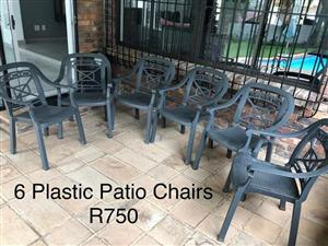 6 Patio chairs for sale